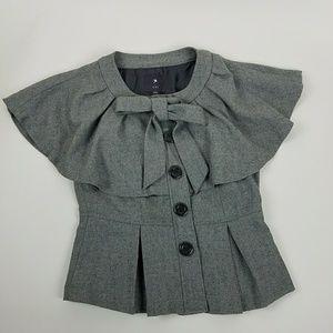 Forever 21 Peplum Cape Vest Wool Blend Medium